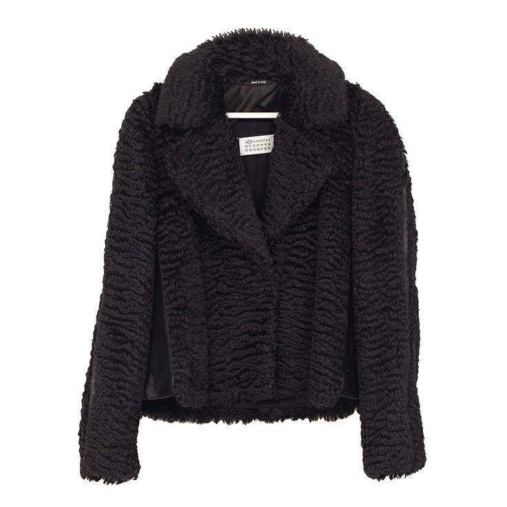 MAISON MARTIN MARGIELABlack Fur Jacket SPOONITALY OFFICIAL WEBSITE