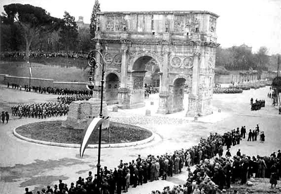 Arco di Costantino e Meta Sudans, 1933 - Arch of Constantine and meta Sudans, 1933
