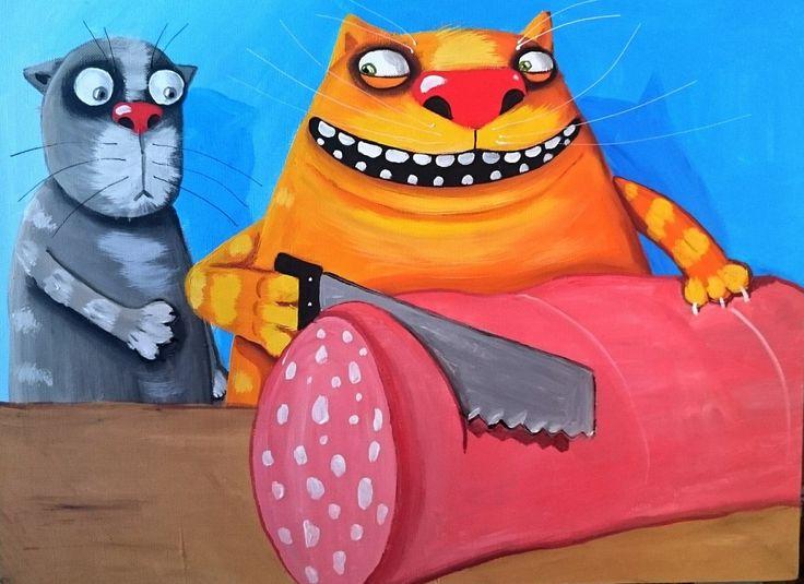 Коты художника васи ложкина