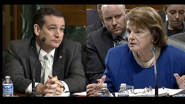 "In 2013: BLOWOUT! Ted Cruz vs. Dianne Feinstein     Published on Mar 14, 2013 Senators Ted Cruz and Dianne Feinstein during a Senate Judiciary Hearing  got into heated exchange while discussing the California congresswoman's proposed ban on so-called ""assault"" weapons."