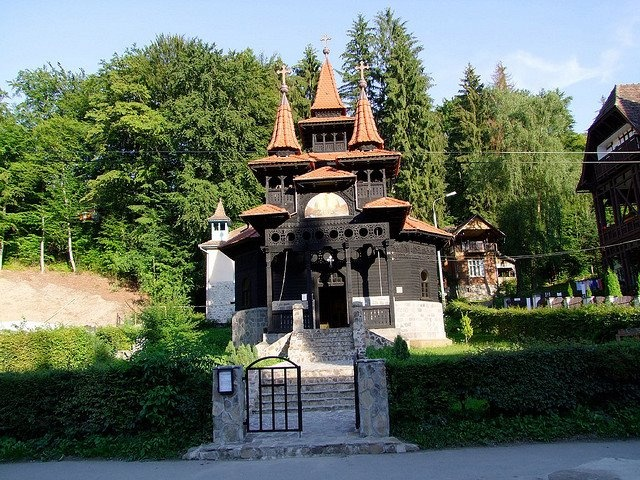 Wood church in Sovata, Romania