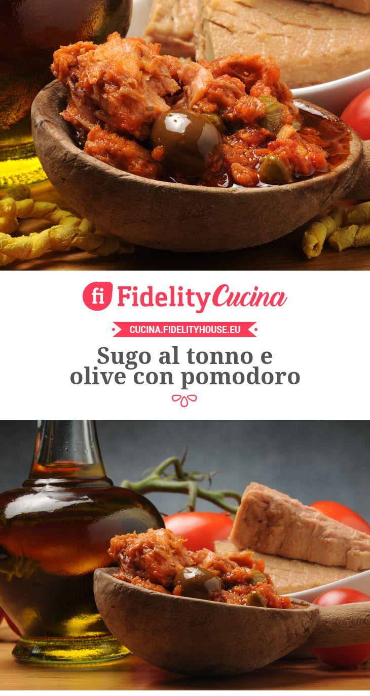 Sugo al tonno e olive con pomodoro