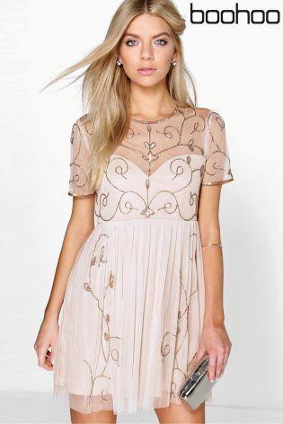 Buy Boohoo Boutique Embellished Skater Dress from the Next UK online shop