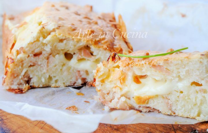 Plumcake salato di albumi con formaggio e prosciutto