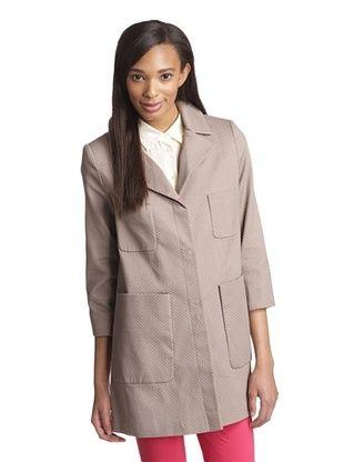 64% OFF T Tahari Women's Acacia Pique Topper Jacket (Sandstone)