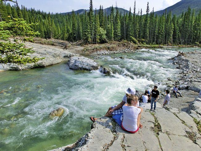 Elbow River flowing fast // by Rangan Damal Pattangi, Calgary, AB