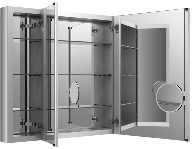Fresh 3 Way Mirror Medicine Cabinet 66 For Cabinets Plans With