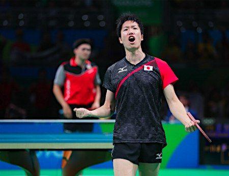 日本男子が8強=卓球 :フォトニュース - リオ五輪・パラリンピック 2016:時事ドットコム