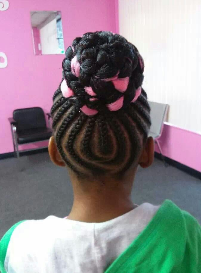 Sensational 1000 Images About Natural Kids Cornrow Buns On Pinterest Short Hairstyles For Black Women Fulllsitofus