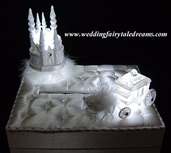 Fairytale Bridal Castle Coach Card Box Princess Graduation Ball ...