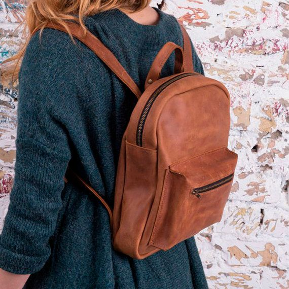 #Camel #backpack #leather #backpack #chic #backpack #mini #backpack