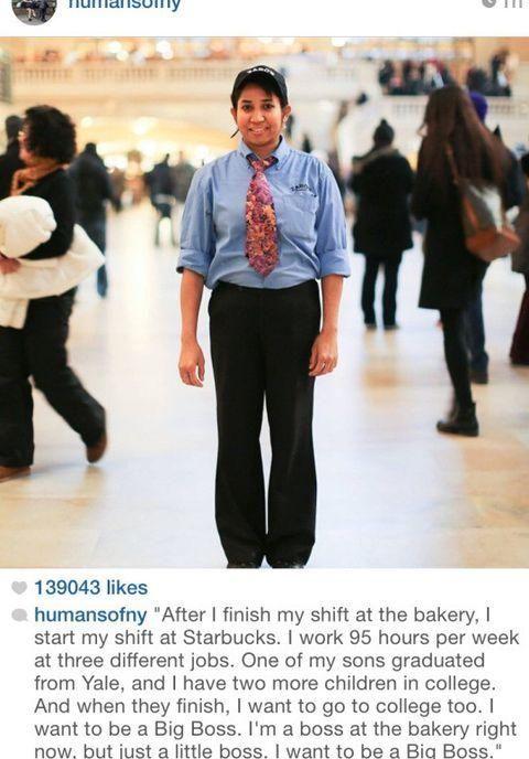 Inspirational fast food/blue collar worker