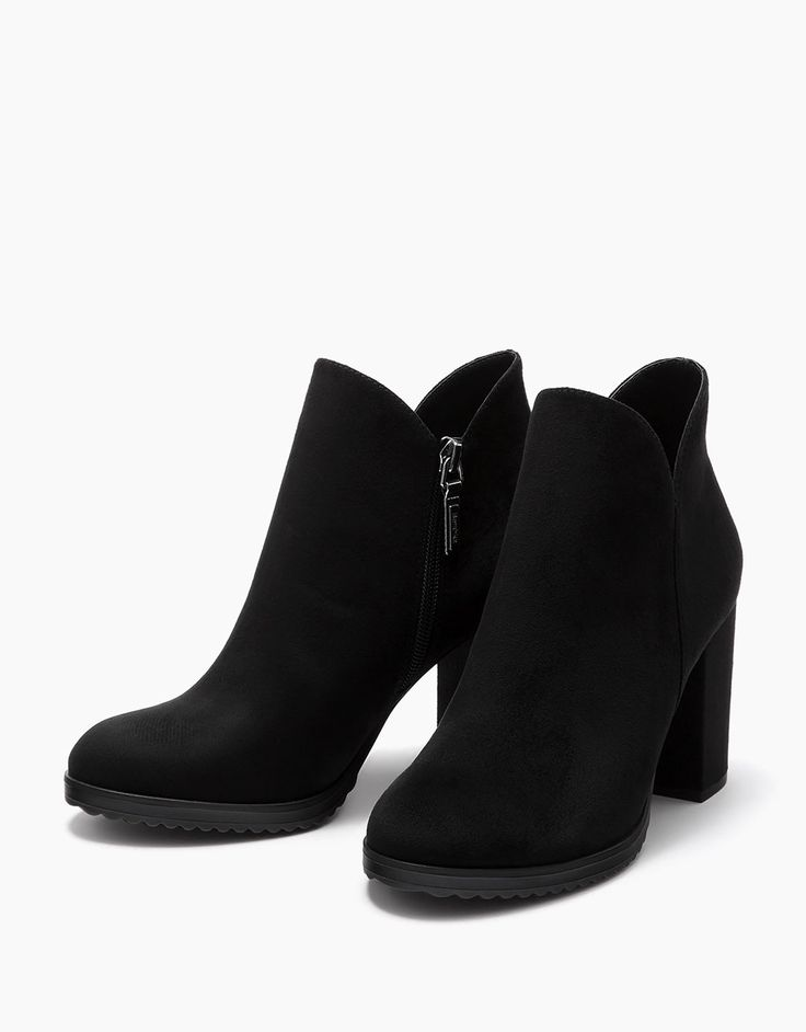 ankle boots with block mid-heel. Discover this and many more items in Bershka with new products every week