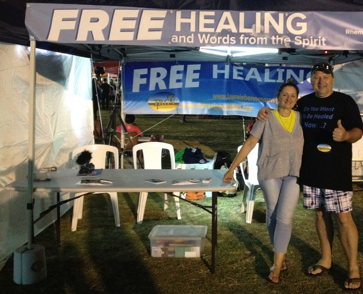 More than 35 people healed at our healing tent, from various problems, physical or moral, new birth, baptism in the Holy Spirit.  Once again, we worked as a team with the Holy Spirit, what pleasure to give the Love of God to people...:)  A video from TRGN will be soon available on our Website www.therealgoodnews.org  Bye for now.  Franck Kvaskoff TRGN Christian Ministry www.therealgoodnews.org