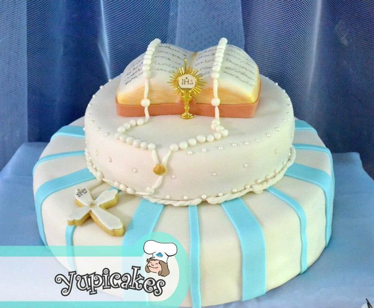 pasteles de primera comunion fondant
