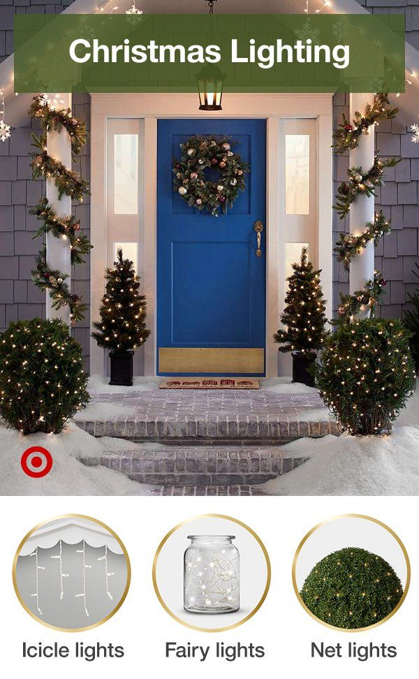 Find Beautiful Christmas Lights For An Oh So Bright Outdoor Holiday Lighting Display Christmas Hanging Christmas Lights Outdoor Christmas Decorations