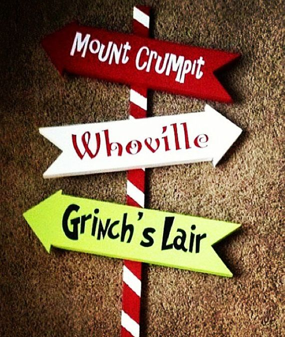 36 Whoville Grinch Christmas Yard Art Sign Decoration by WoodBeeUs