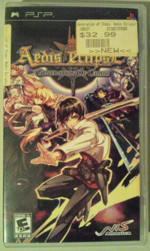 Aedis Eclipse Generation Chaos Game For PSP