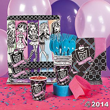 Have a monster of a birthday party with these Monster High Party Supplies! These creepy-cool monster party supplies feature your favorite teenage monsters, ...