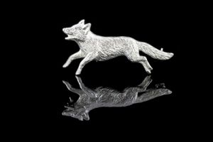 Fox brooch stock pin - County Equestrian Jewellers
