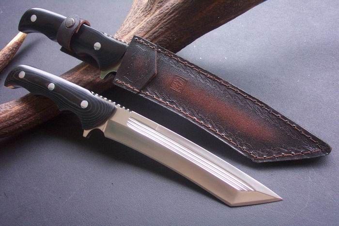 NuMade Big Tanto Custom Bowie Knife Handmade Knife, Canada Knives and Swords