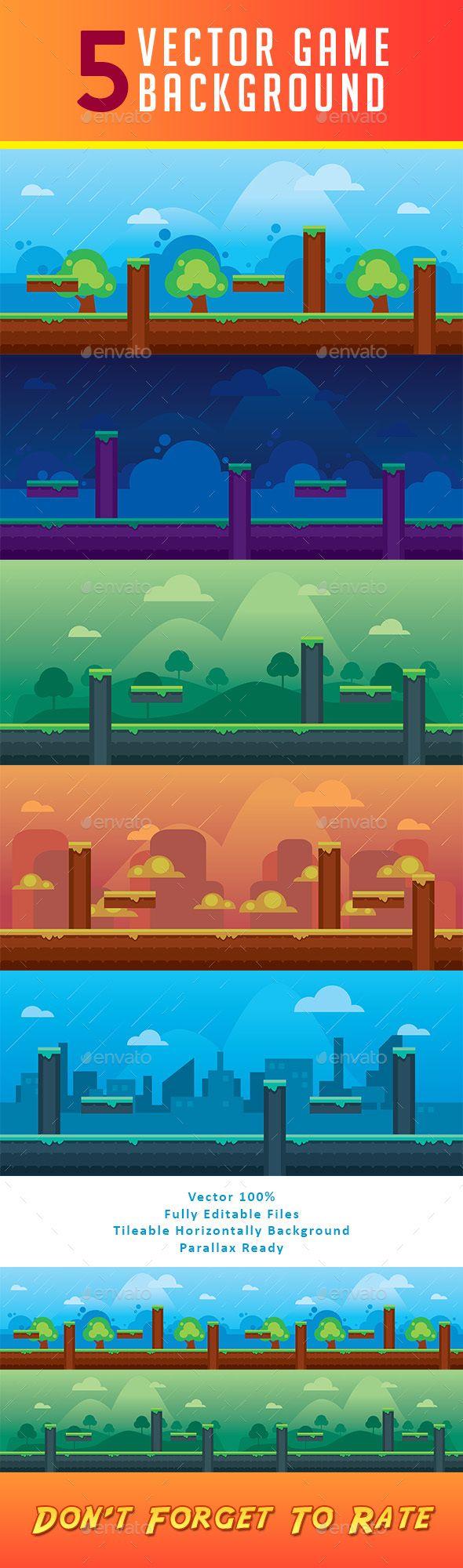5 Vector Fantasy Game Background