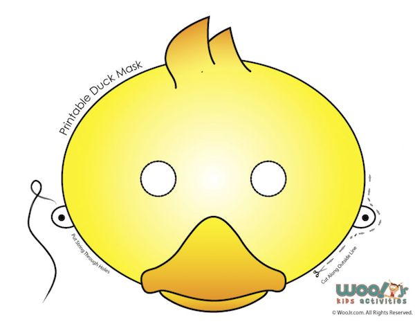 Duck Mask Printable Duck Mask