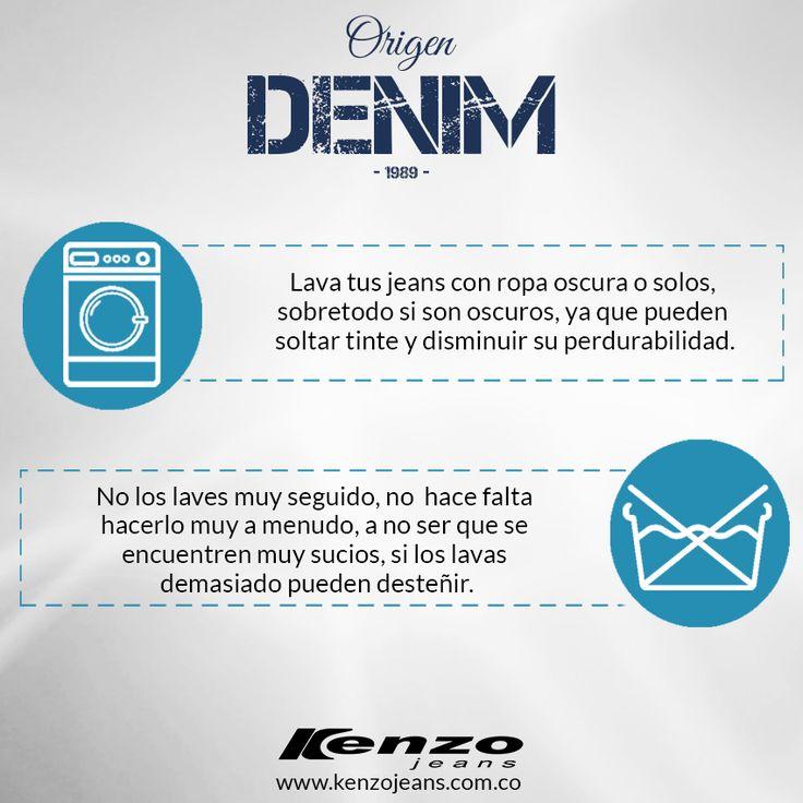 Compartimos contigo algunos tips para que tu prenda favorita perdure. #KenzoJeans #OrigenDenim www.kenzojeans.com.co/origen-denim/