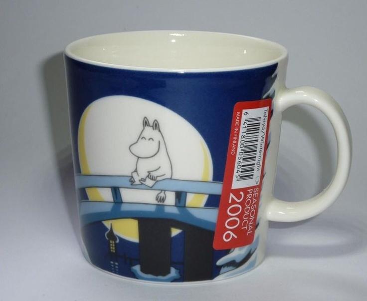 Moomin Christmas Winter Mug 2006, named Winternight. To me one of the nicest Moomin mugs by Arabia.