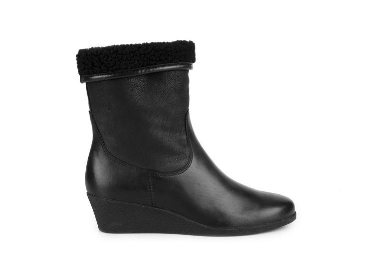 Caprice - Kožené kozačky na klínku, 9/9-25344-23 001 / Černá | obujsi.cz - dámská, pánská, dětská obuv a boty online, kabelky, módní doplňky...