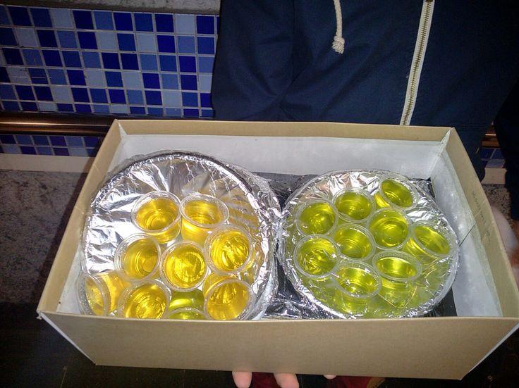 Piña/ron y limón/ron  Exquisitez !! Ofertón captado por Felipe Ascencio  45 Jellys por $5000!!