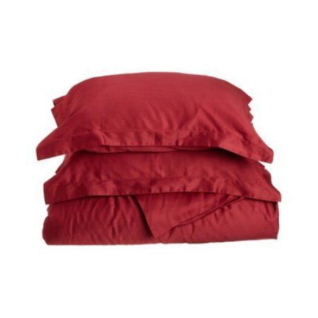 400 Thread Count Egyptian Cotton King/ California King Duvet Cover Set Solid, Red