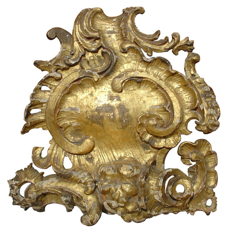 Grand 18th Century Giltwood 'Coquille Rocaille' | From a unique collection of antique and modern architectural elements at https://www.1stdibs.com/furniture/building-garden/architectural-elements/