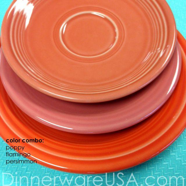 Fiesta plate stack - Persimmon Flamingo Poppy  sc 1 st  Pinterest & 84 best Fiestaware Ironstone Mason Jars images on Pinterest ...