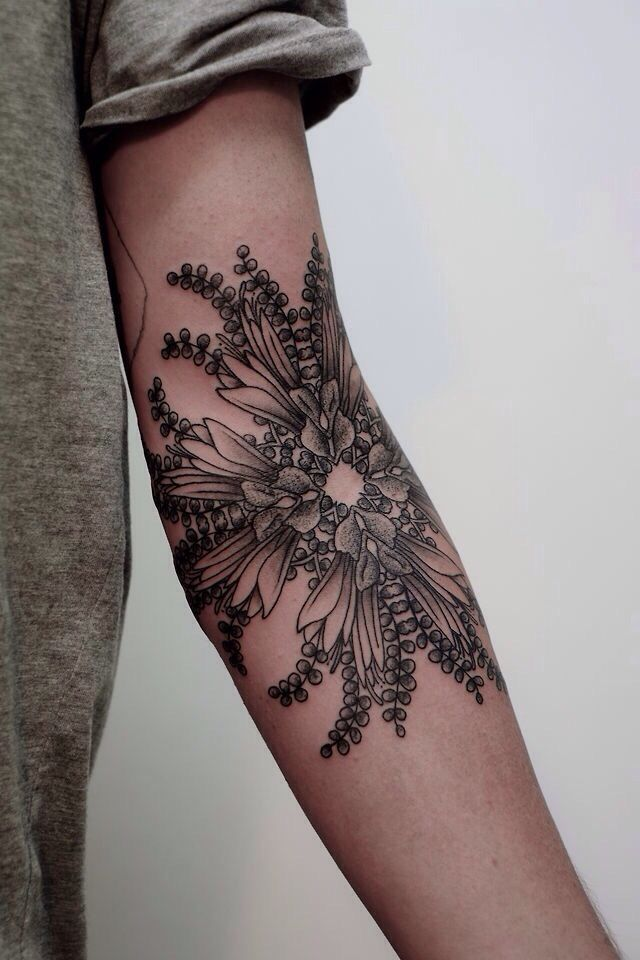 Symmetrical geometric arm design #tattoo #ink: