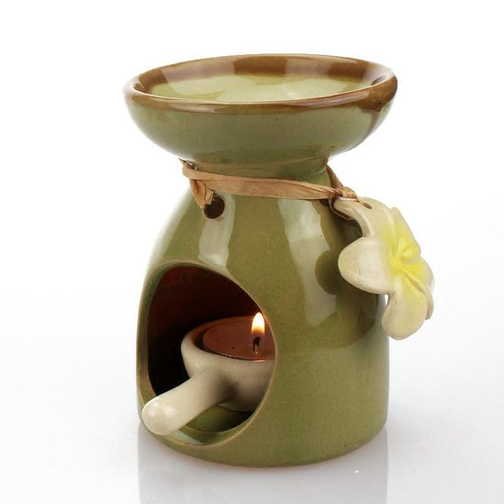 Big Capacity Aroma Burner Oil Lamp with Candle Holder