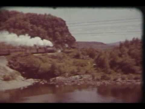 Canadian Pacific Railway steam trains 1940's vintage footage