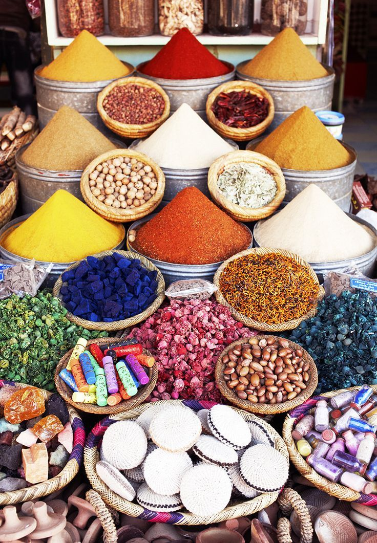 Flavors of Morocco - @sweetearthfoods - The Souk in Marrakech, Morocco