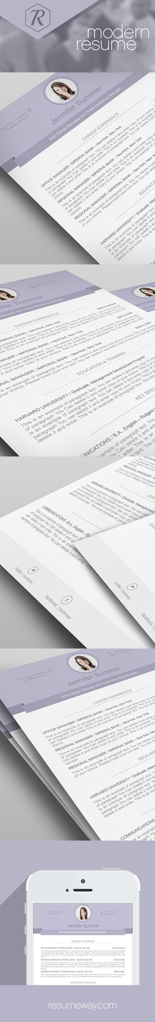 modern resume template 110490 premium line of resume cover letter templates edit