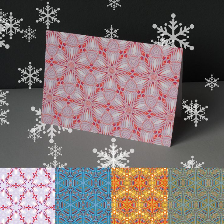 A Pack Of Five Festive Pattern Cards http://www.designedbyruth.co.uk/cards/christmas-cards/a-pack-of-five-festive-pattern-cards