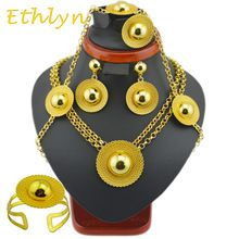 Ethlyn brand Ethiopian jewelry sets Gold Color sets for African /Ethiopian /Eritrean women hair wedding jewelry sets //Price: $US $14.04 & FREE Shipping //     #hashtag4