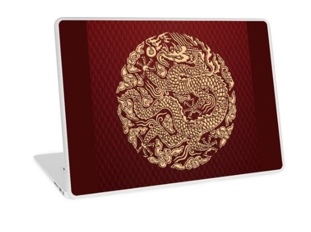 Gold Dragon shenlong Laptop Skins #LaptopSkins #laptop #skin #artstyle #Photography #Digitalmanipulation #animal #beast #monster #gorilla #dragon #goku #vegeta #saiyan #supersaiyan #cyborg #anime #manga #cartoon #TVseries #movie