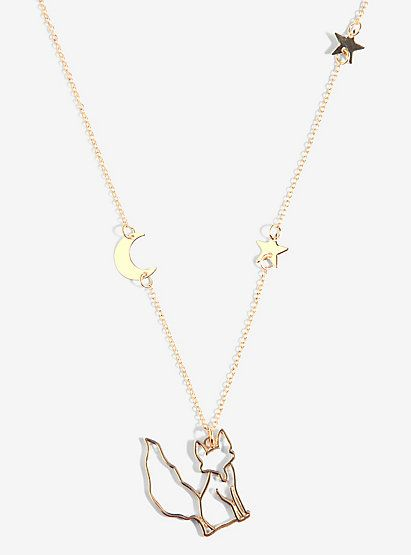 The Little Prince Fox And Stars NecklaceThe Little Prince Fox And Stars Necklace,