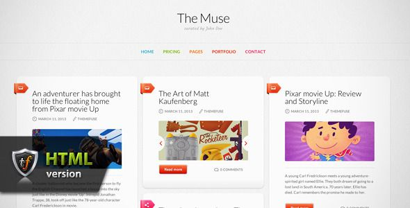 The Muse - Inspiration HTML Theme (Personal)