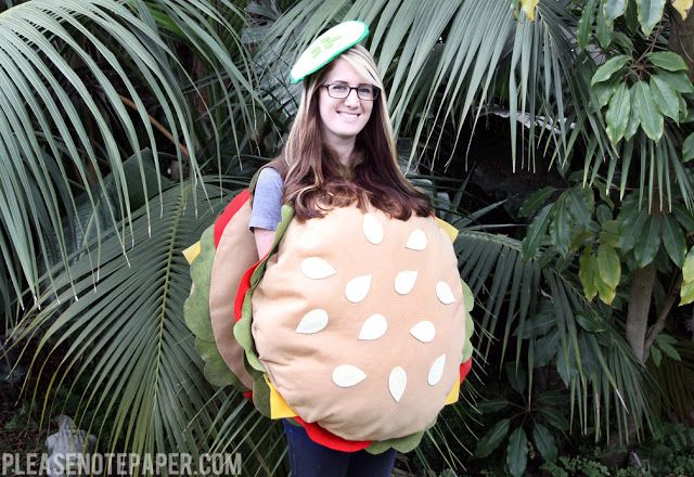 Please Note: DIY: No-Sew Burger Costume                                                                                                                                                                                 More