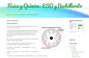 Selección de blogs para la asignatura de Física y Química destinados al alumnado de ESO y Bachillerato.