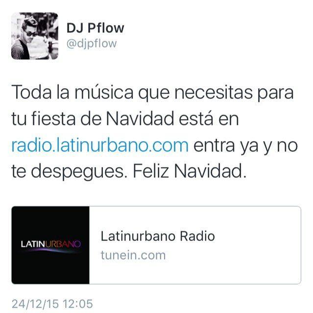 Toda la música que necesitas para tu fiesta de noche buena y Navidad está en radio.latinurbano.com la música que tú quieres escuchar 24/7 entra ya y no te despegues. Feliz Navidad.  #DJ #DJPflow #Radio #RadioLife #Latinurbano #LatinurbanoRadio #Mix #Party #Salsa #Merengue #Bachata #Reggaeton #HipHop #Reggae #EDM #House #Dance #Navidad #NocheBuena #FelizNavidad #24DeDiciembre