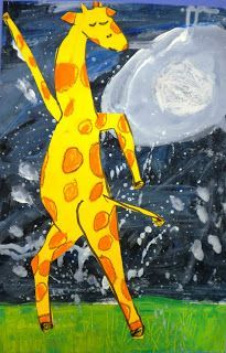 Art to go with Giraffes Can't Dance-this would be so much fun making giraffes with their best dance moves!