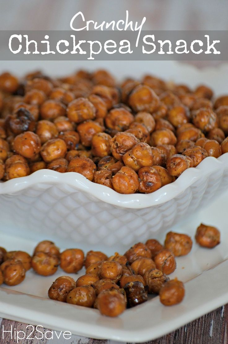 Crunchy Roasted Chickpea Snack Recipe via Hip2Save: It's Not Your Grandma's Coupon Site!