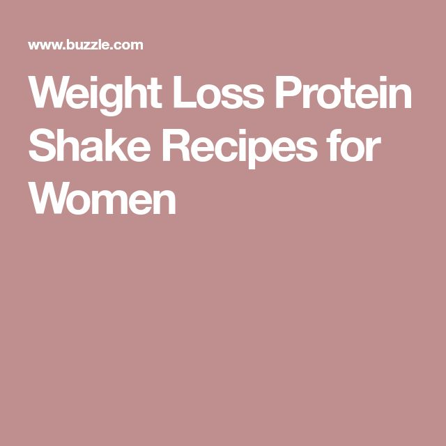 Weight Loss Protein Shake Recipes for Women